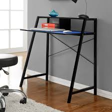blue writing desk altra black and blue reversible student desk 9390096