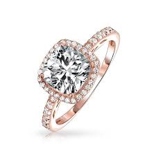 gold engagement rings cushion cut vintage style sterling silver cushion cut cz engagement ring