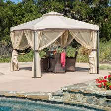 belham living augusta 10 x 12 ft gazebo with polycarbonate top