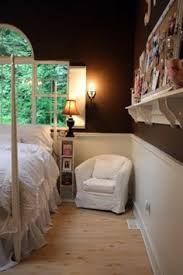 Two Tone Colors For Bedrooms Two Tone Wall With Chair Rail Bedroom Decor Brown On Bottom And A