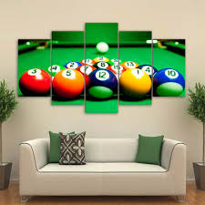 Billiards Pool Table Ball Canvas Wall Art Panel Print Wall Picture