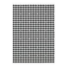 black and white houndstooth 5 u0027x7 u0027area rug by organicpixels