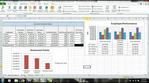 Monthly Sales Report Template Excel Ms Excel 2010 Tutorial Employee Sales Performance Report