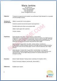 resume format for cabin crew flight attendant resume samples