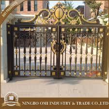 luxury aluminum house main gate designs the rotproof aluminum