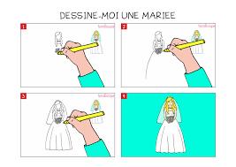 apprendre à dessiner une mariée en 3 étapes