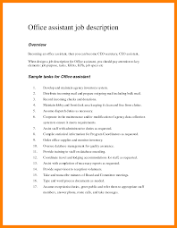 Coaching Resume Office Assistant Duties For Resume Resume For Your Job Application