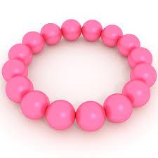 pink pearl bracelet images Pink pearls bracelet free 3d model in jewellery 3dexport png