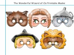 unique the wonderful wizard of oz printable masks birthday