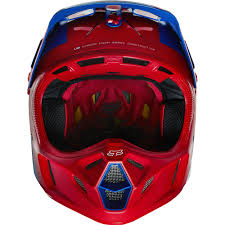 motocross fox helmets fox v4 libra motocross helmet blue red 2016 mxweiss motocross shop
