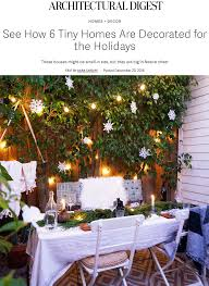 holiday decorated homes holiday decor with architectural digest u2014 the tiny canal cottage