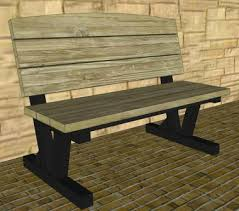 Free Park Bench Plans by Park Bench Plans Progressive