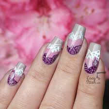 nail art for the bored gradient pattern garden nails feat barry