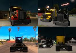 kenworth parts kenworth w900 black headlights toning mod american truck