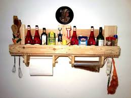 Pallet Kitchen Furniture Kitchen Shelves Made From Wooden Pallet Recycled Things