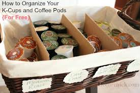k cup gift basket how to organize your k cups and coffee pods for free decorchick