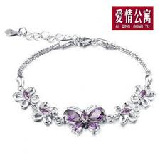 butterfly bracelet charms images Treasure chests natural amethyst butterfly charm bracelet 925 jpg