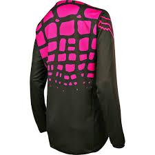 motocross gear womens fox womens 180 motocross jersey black pink 2017 mxweiss