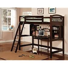 Bunk Beds And Desk Amazon Com Coaster Bunk Bed And Workstation In Warm Brown Finish