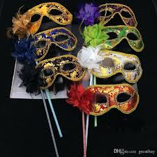 where to buy mardi gras masks made masquerade mask for party stick half mask