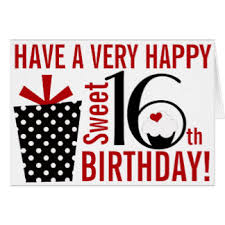 happy sweet 16th greeting cards zazzle