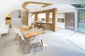 Modern Oak Furniture White Chandelier On The White Ceiling Of Modern Oak Chair It Also