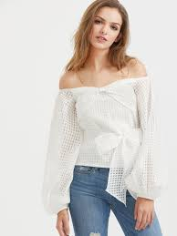 belted blouse blouses by borntowear the shoulder lantern sleeve belted
