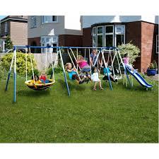 swingsets sportspower ridgewood me and my toddler metal swing set