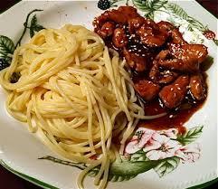 recette de cuisine simple et bonne emincés de poulet au sésame oranges et epices