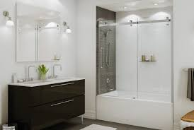 Bathtubs With Glass Shower Doors Amazing Bathroom Shower Doors Ideas With Bathtub With Shower Doors