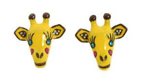 giraffe earrings betsey johnson jungle fever giraffe stud earrings1 jpg