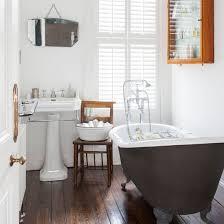 Hardwood Floors In Bathroom White Bathroom With Wooden Floor Bathroom Decorating Solid Hickory