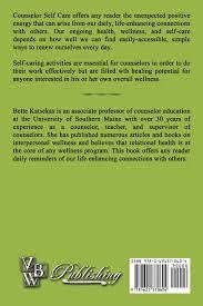 Counselor Self Care Activities Counselor Self Care Bette Katsekas 9781621370604 Amazon Com Books