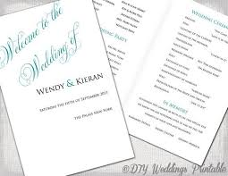 Wedding Booklet Templates Wedding Booklet Template Program Templates Foldover Wedding
