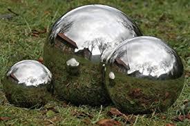 stainless steel mirror sphere garden ornament 27cm co uk