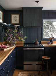 light grey kitchen cabinets with wood countertops 25 ultimate black kitchen designs that wow shelterness