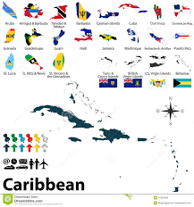 Map Of Cayman Islands Political Map Of Caribbean Stock Vector Image 41603488