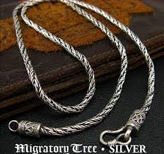 tibetan silver ethnic necklace images Tibetan handmade sterling silver necklace for men jpg