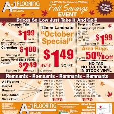 A 1 Carpet A 1 Flooring Welland Specials