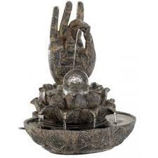 hand of buddha tabletop water fountain meditation fountain