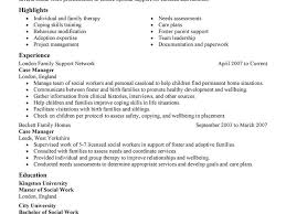 Social Work Resume Winsome Design Social Work Resume Examples 16 8 Amazing Services