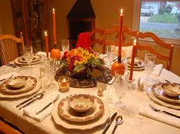 decoration thanksgiving table décor ideas with candle