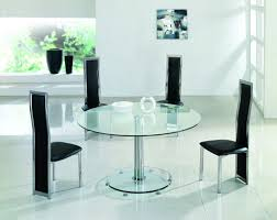 Glass Dining Table 4 Chairs Dining Planet Large Clear 2 Glass Dining Table Small Round Glass