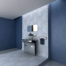 Blue Bathrooms Decor Ideas Gray And Blue Bathroom Decor Dark Brown Varnished Wall Mounted