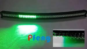 white and green strobe led light bar curved