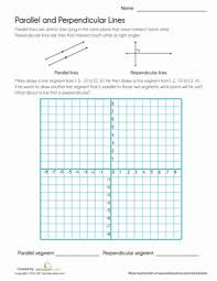 parallel and perpendicular lines worksheet education com