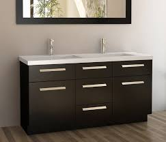 Bathrooms With Double Vanities Design Element Moscony Double Sink Vanity Set With Espresso Finish