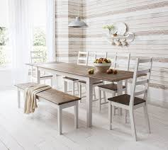 dining room extraordinary white kitchen table with bench round