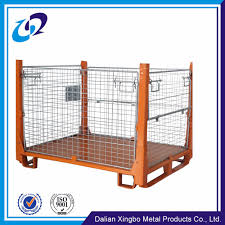 cargo storage equipment used low price steel collapsible wire mesh