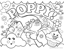 poppy trolls coloring pages coloring